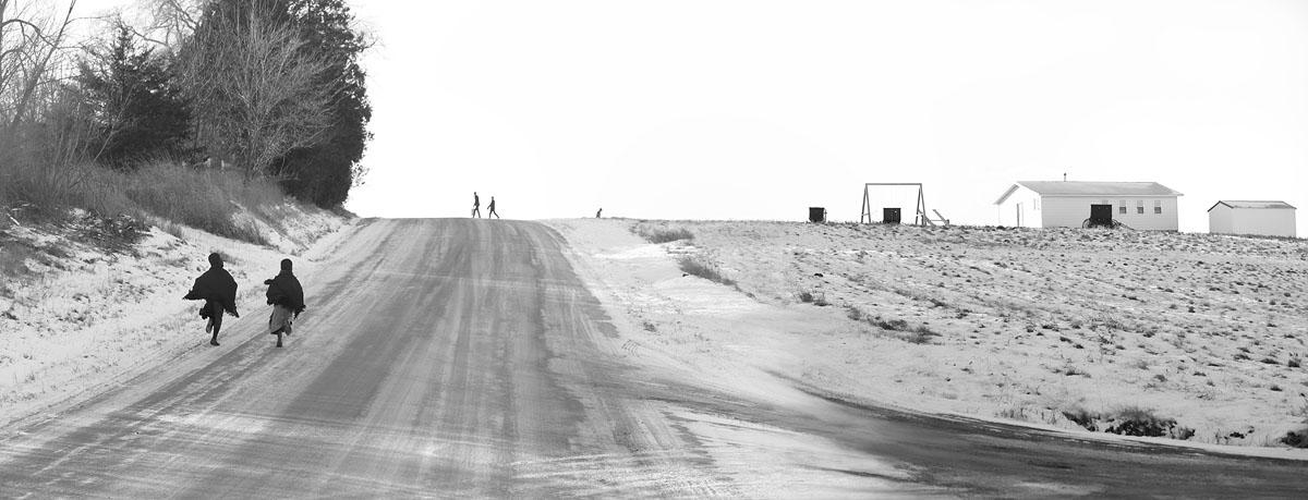 Amish, School, Amish Kids, Winter
