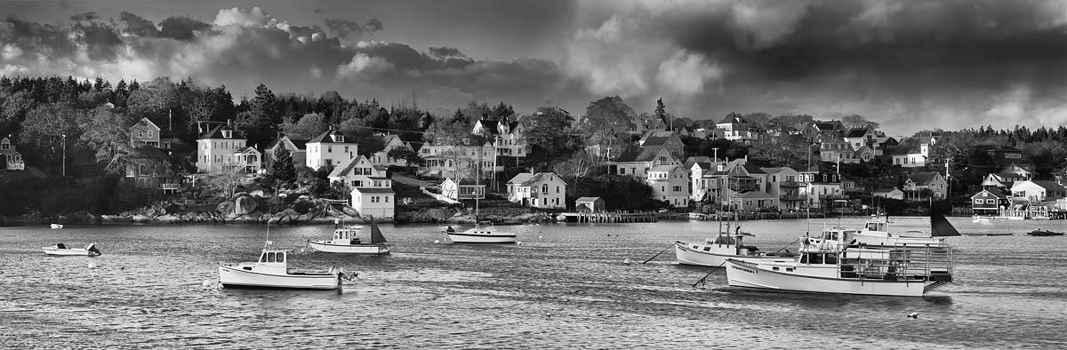 boats, harbor, Maine
