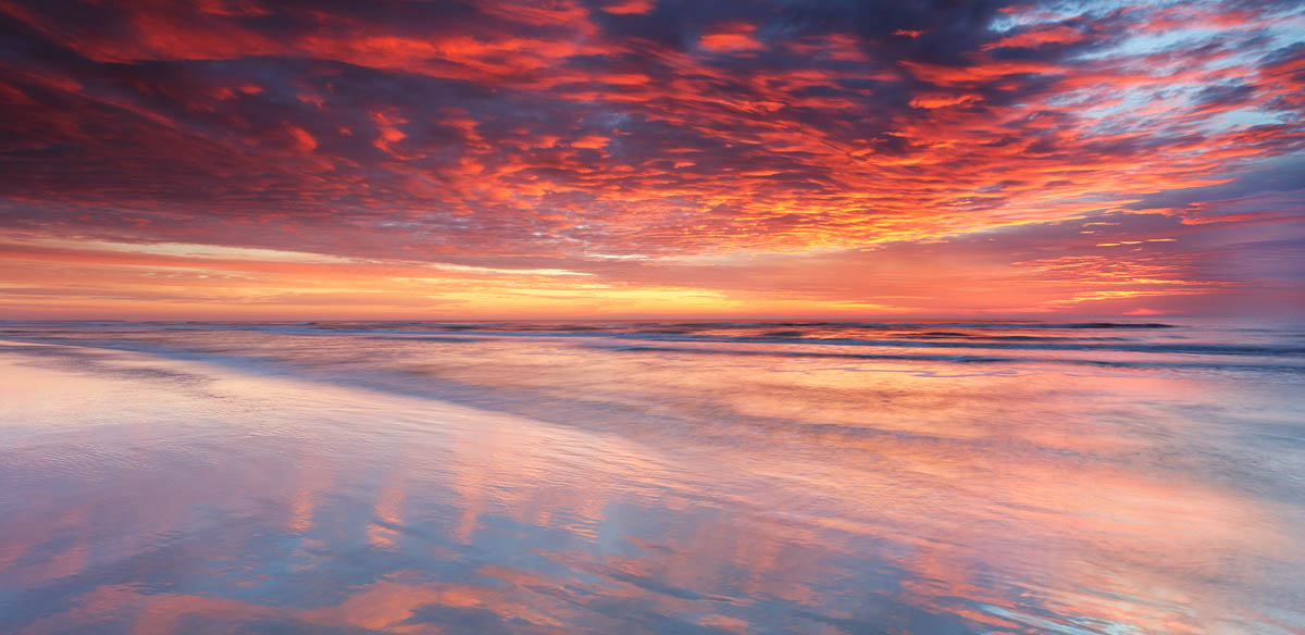 sunrise, sunset, beach