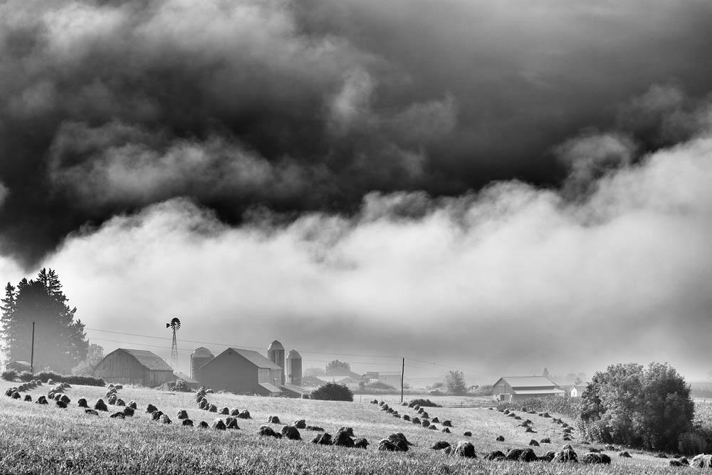 Storm, Barn, Farm, Amish, Clouds