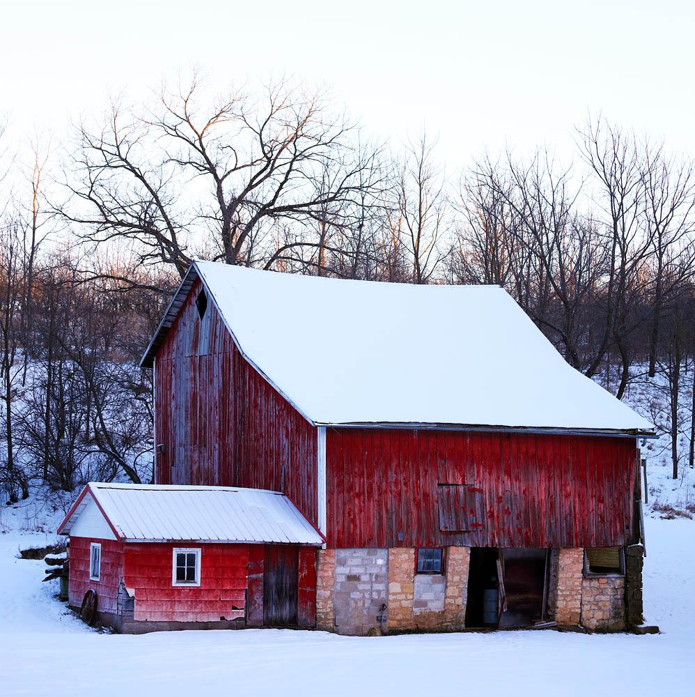 Barn, Winter, Red Barn